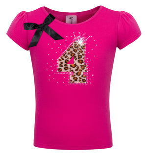 4th Birthday Shirt - Cheetah Girls - Shirt - Bubblegum Divas Store