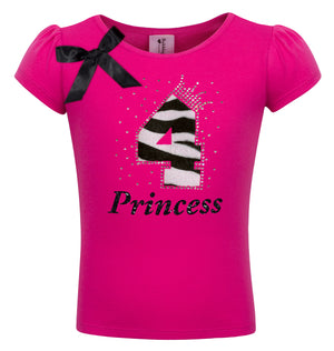 4th Birthday - Zebra Diva Shirt - Shirt - Bubblegum Divas Store