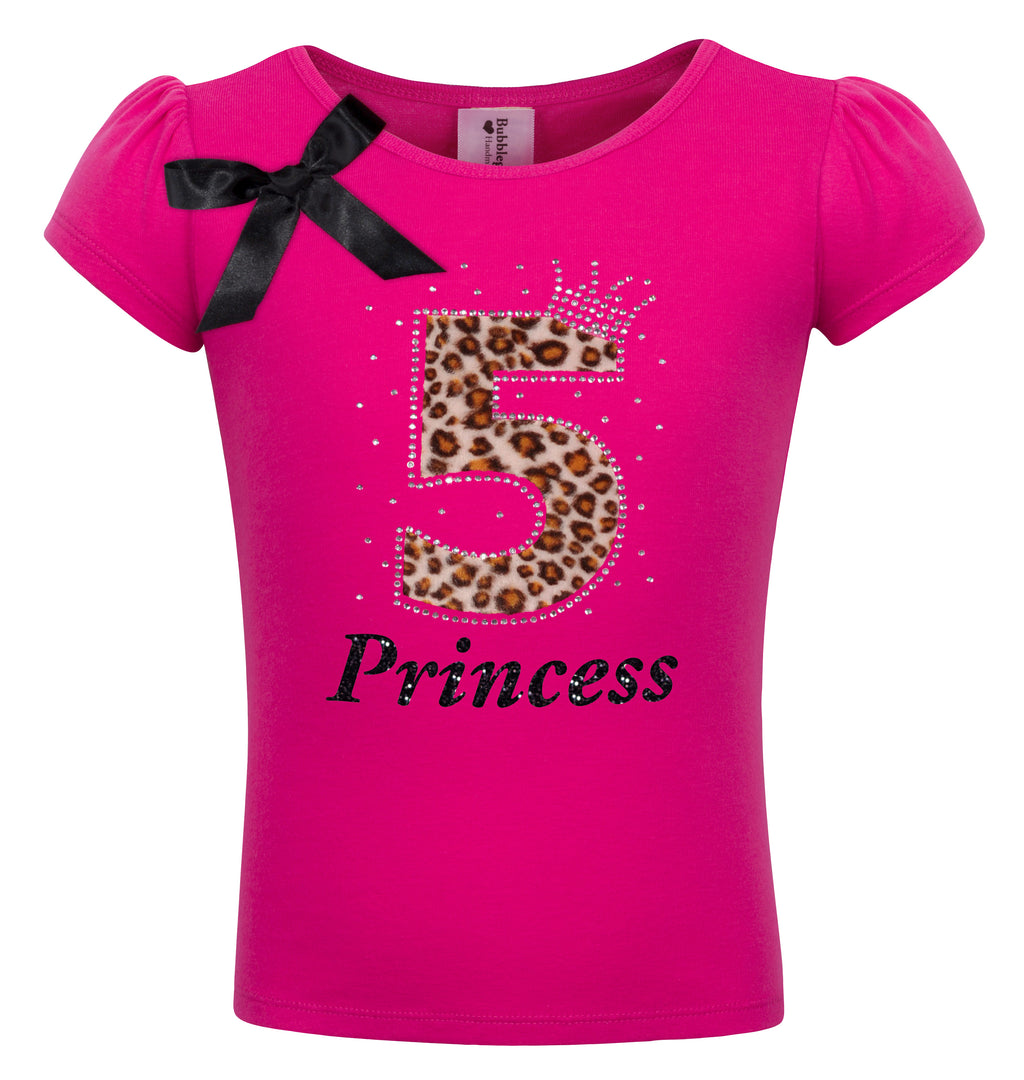 5th Birthday Shirt - Cheetah Girls - Shirt - Bubblegum Divas Store