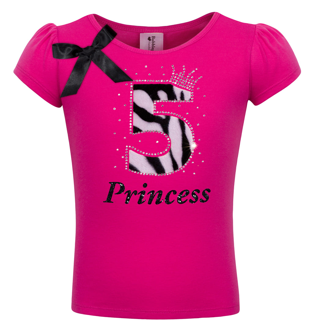 5th Birthday Shirt - Zebra Diva