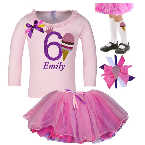 6th Birthday Outfit - Lavender Rose