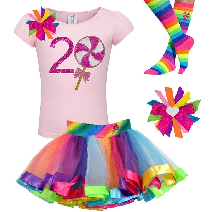 Pink Swirl Lollipop 2nd Birthday - Lollipop Birthday Outfit Baby Toddler Girls - Bubblegum Divas Store