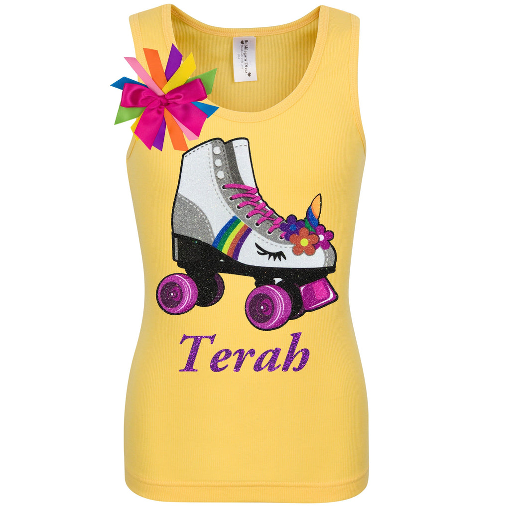 Princess Skate Yellow Shirt