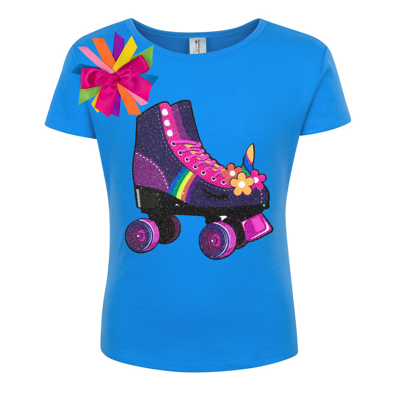 Unicorn Purple Roller Skate Shirt