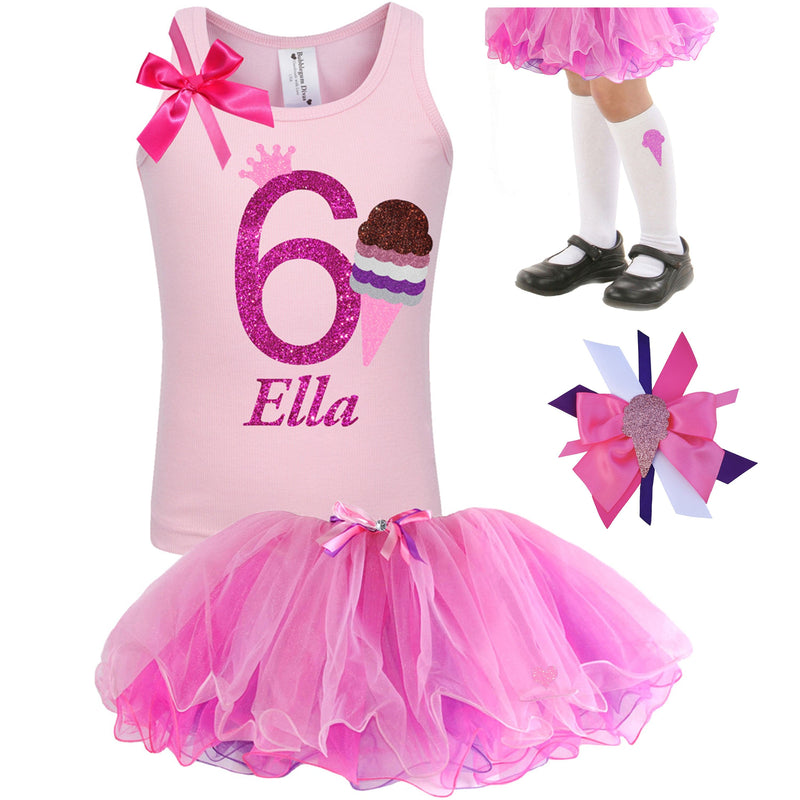 Neapolitan Princess 6th Birthday - Ice Cream - Bubblegum Divas Store