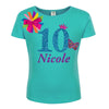 10th Birthday Girl Shirt Butterfly Personalized 10 - Shirt - Bubblegum Divas Store