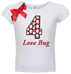 4th Birthday Shirt - Love Bug - Shirt - Bubblegum Divas Store