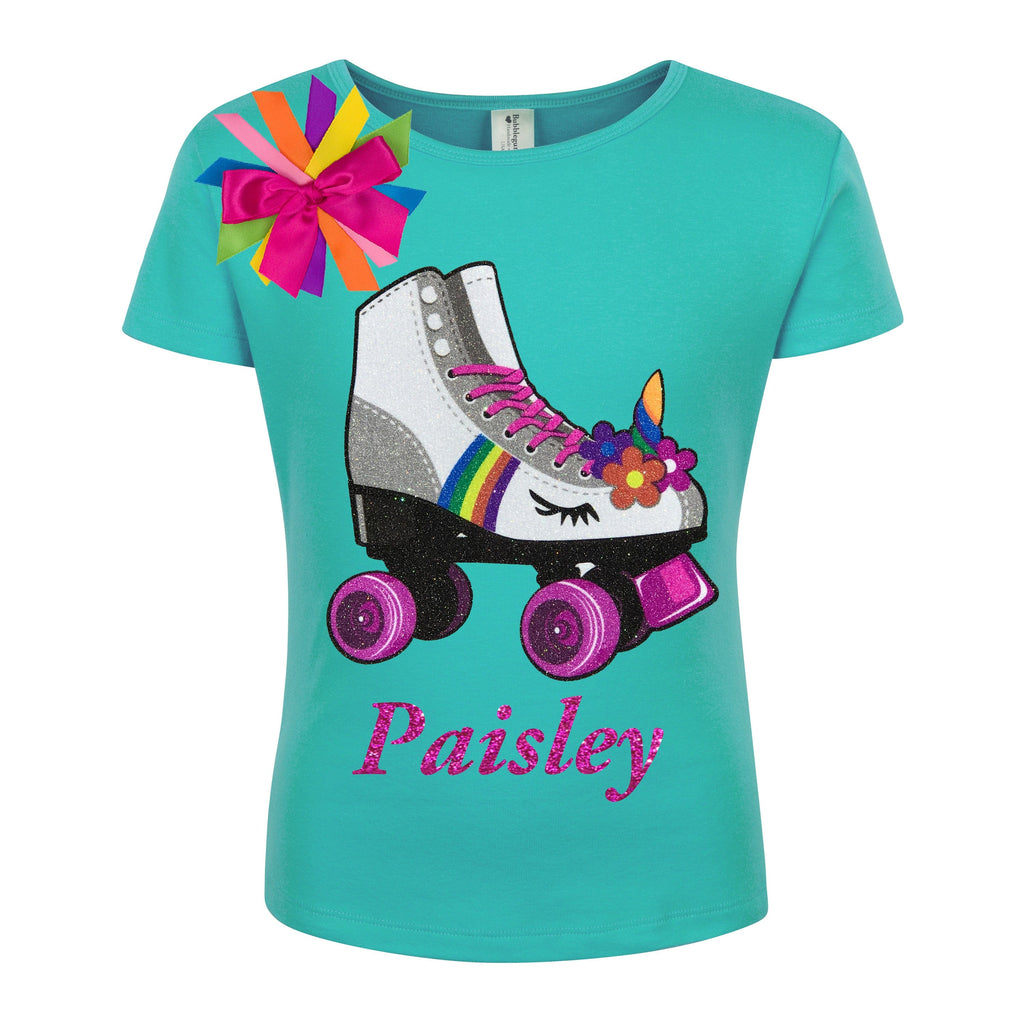 Princess Skate Teal Shirt