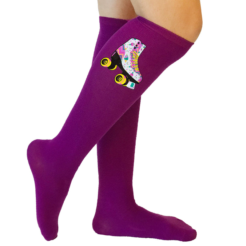 Purple Unicorn Candy Skate Socks