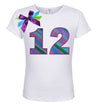 12th Birthday Shirt - Punch Berry Stripes - Shirt - Bubblegum Divas Store