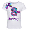 8th Birthday Black Mermaid Girl Shirt