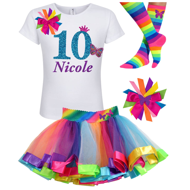 10th Birthday Outfit - Pink Butterfly - Outfit - Bubblegum Divas Store