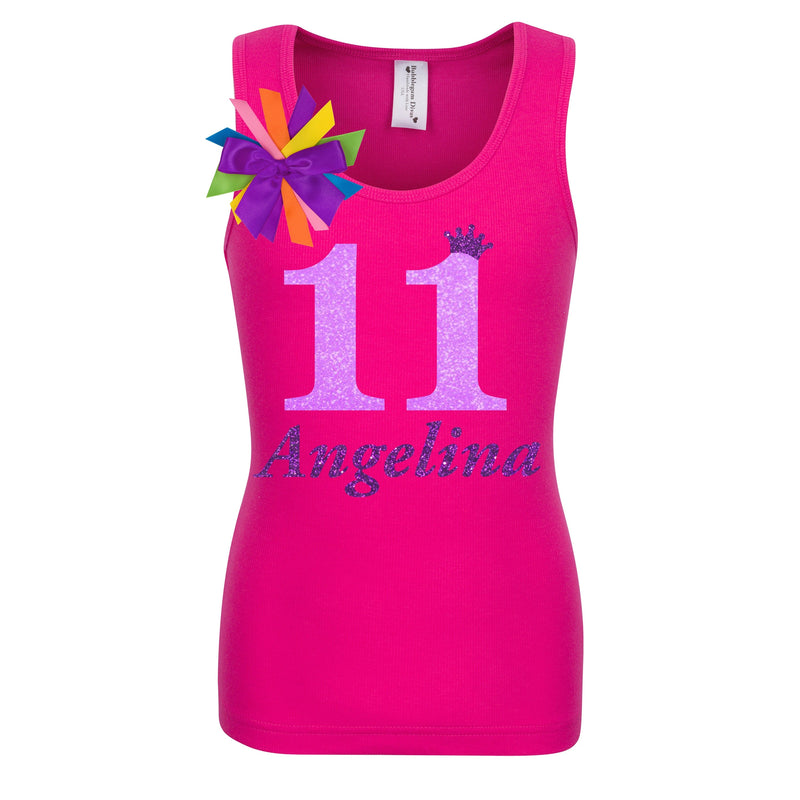 11th Birthday Shirt - Neon Glow - Shirt - Bubblegum Divas Store