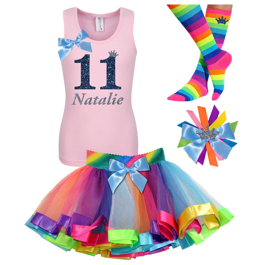 11th Birthday Girl - Black Shirt Tutu Outfit - Bubblegum Divas Store