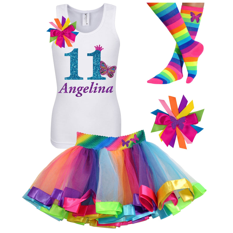11th Birthday Outfit - Butterfly - Outfit - Bubblegum Divas Store
