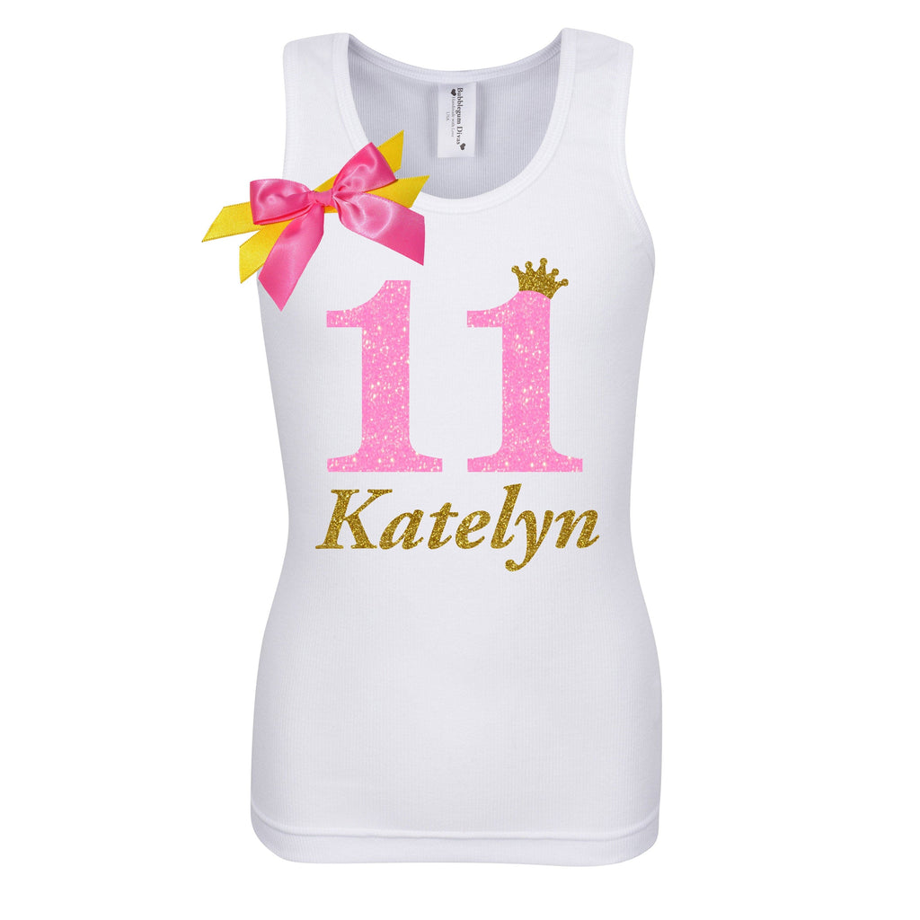 11th Birthday Shirt - Pink Sugar Diva - Shirt - Bubblegum Divas Store