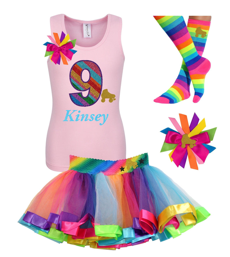 9th Birthday Outfit - Roller Skate Party - Outfit - Bubblegum Divas Store