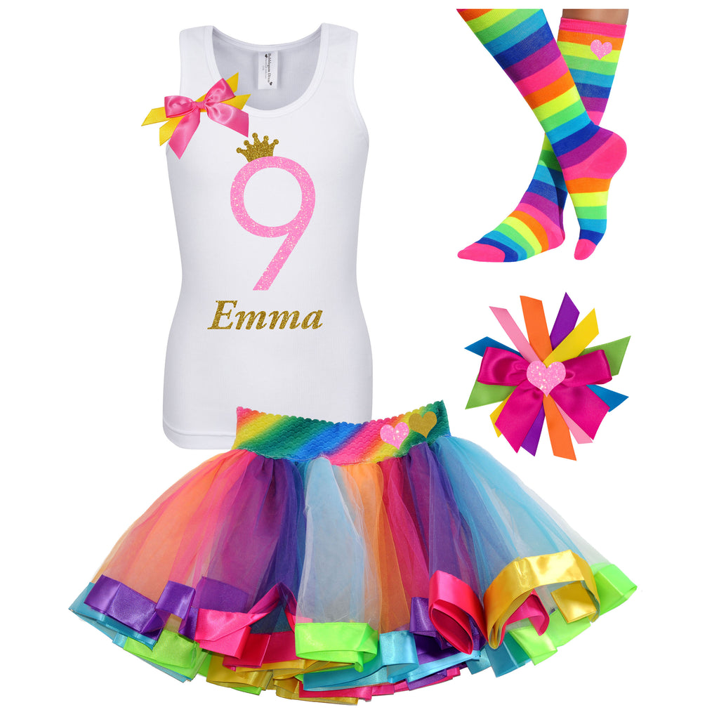 9th Birthday Outfit Pink Sugar - 9th Birthday Outfit - Bubblegum Divas Store