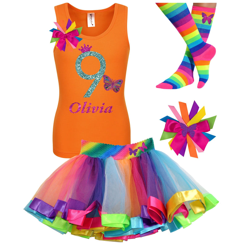 9th Birthday Outfit - Butterfly - Outfit - Bubblegum Divas Store