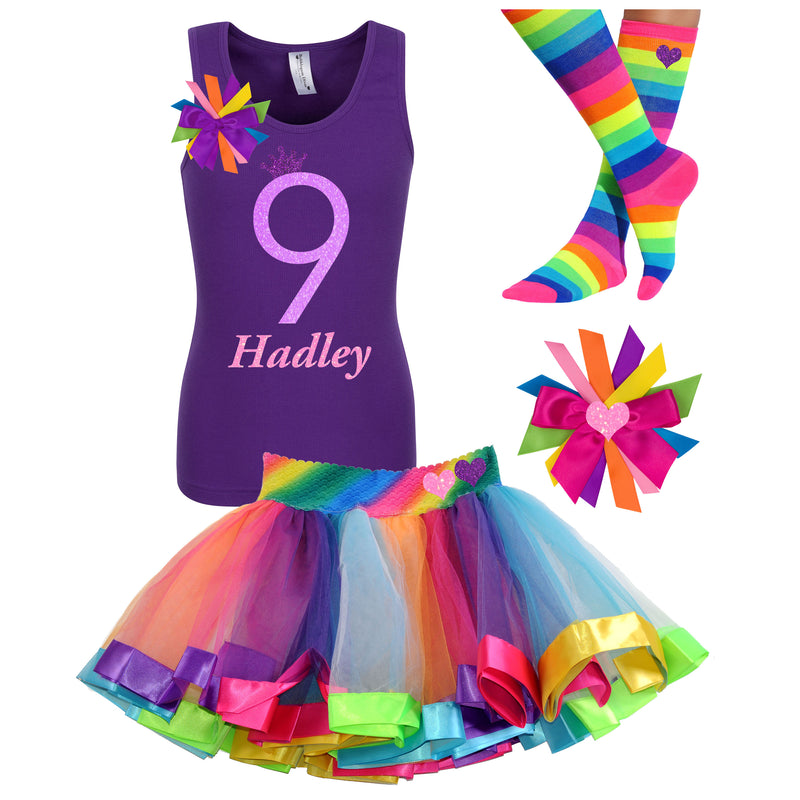 9th Birthday Shirt - Neon Glow - Outfit - Bubblegum Divas Store