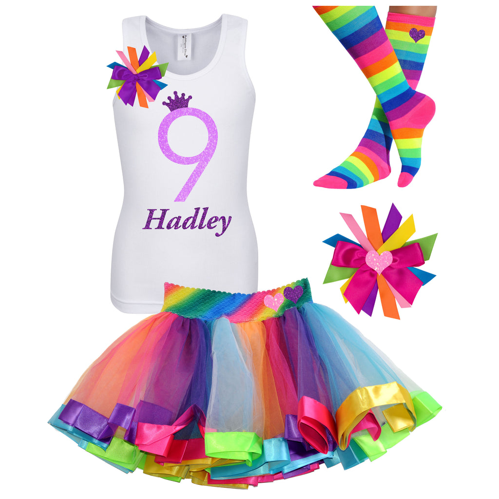 9th Birthday Purple Neon - 9th Birthday Outfit - Bubblegum Divas Store
