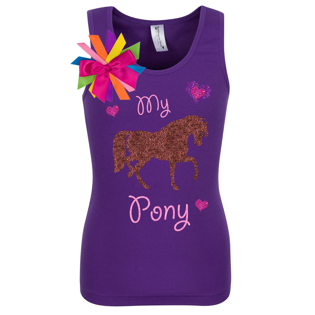Girls Birthday Shirt - My Pony - Shirt - Bubblegum Divas Store