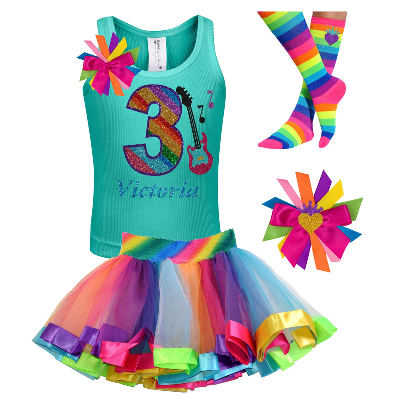 3rd Birthday Outfit - Rock N Roll Party - Outfit - Bubblegum Divas Store