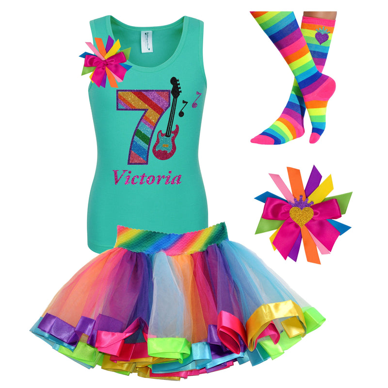 7th Birthday Outfit Guitar Party - 7th Birthday Outfit - Bubblegum Divas Store