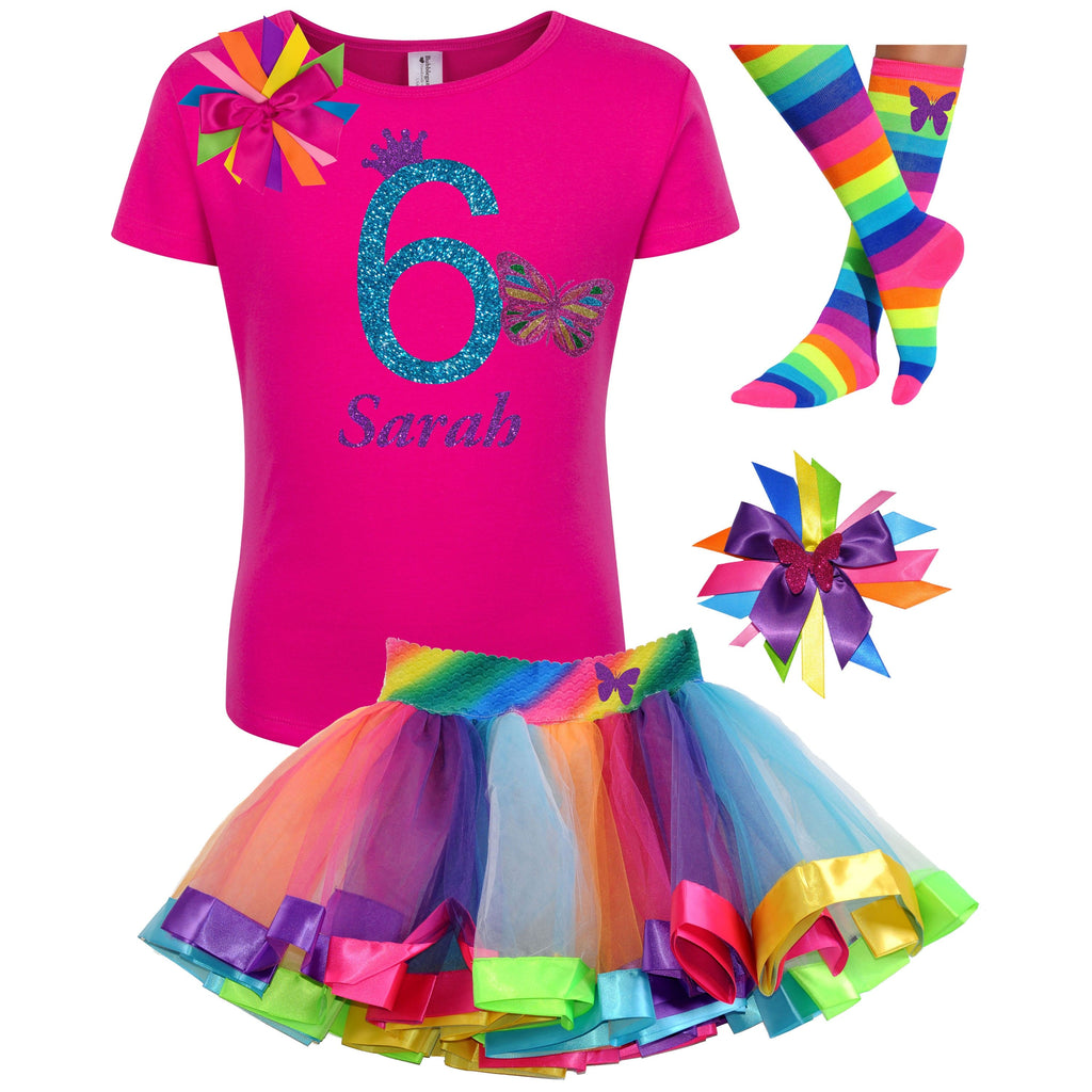 6th Birthday Outfit - Butterfly - Outfit - Bubblegum Divas Store