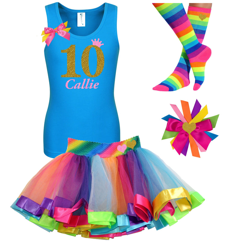 10th Birthday Outfit - Golden Caramel - Outfit - Bubblegum Divas Store