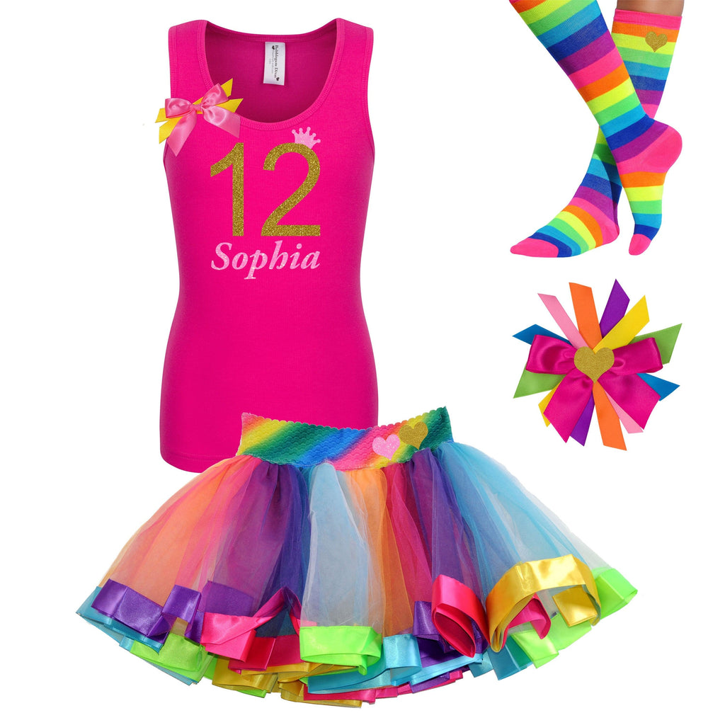 Tutu Dress Girls l 12th Birthday - Outfit - Bubblegum Divas Store