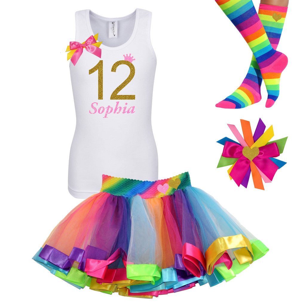 12th Birthday Outfit - Golden Caramel - Outfit - Bubblegum Divas Store