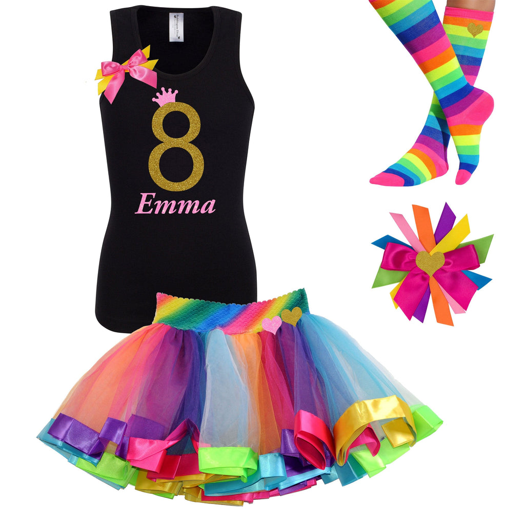 Golden Caramel 8th Birthday - Outfit - Bubblegum Divas Store