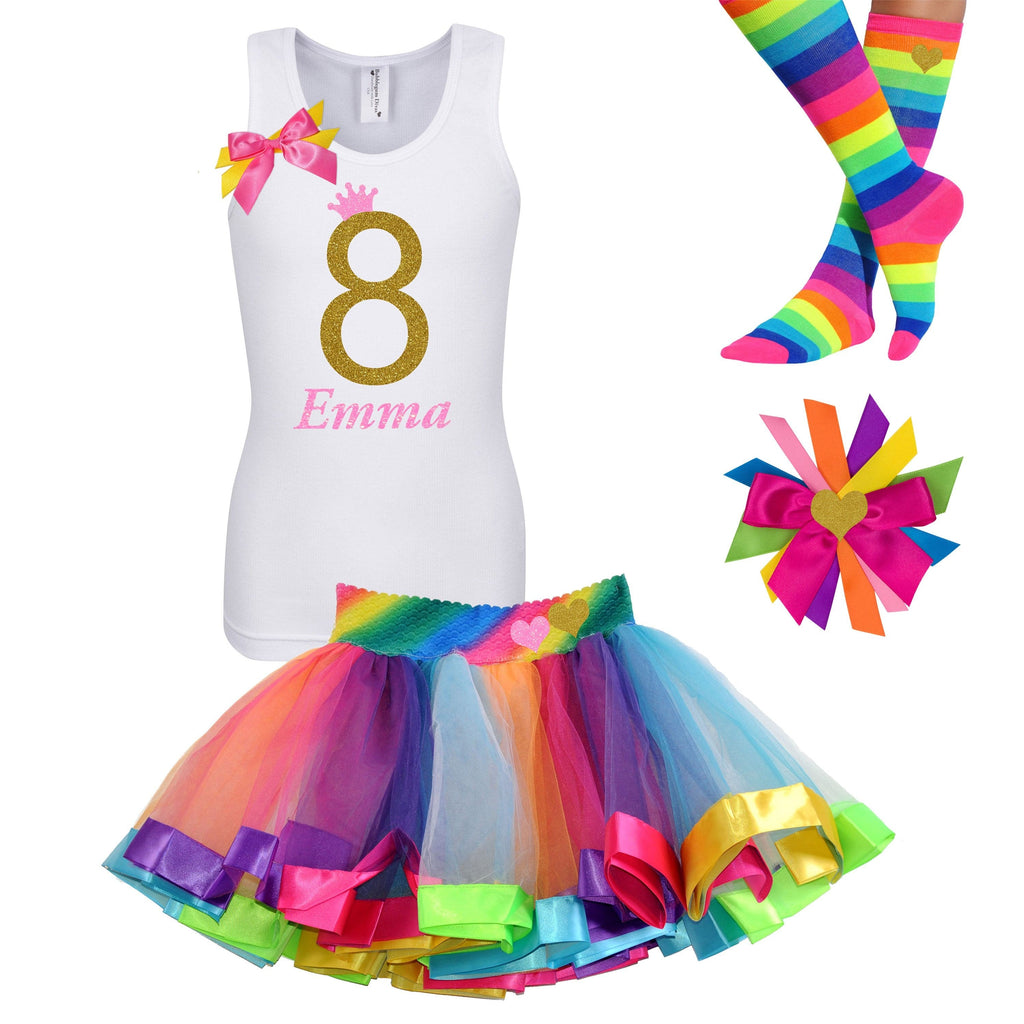 8th Birthday Outfit - Golden Caramel - Outfit - Bubblegum Divas Store
