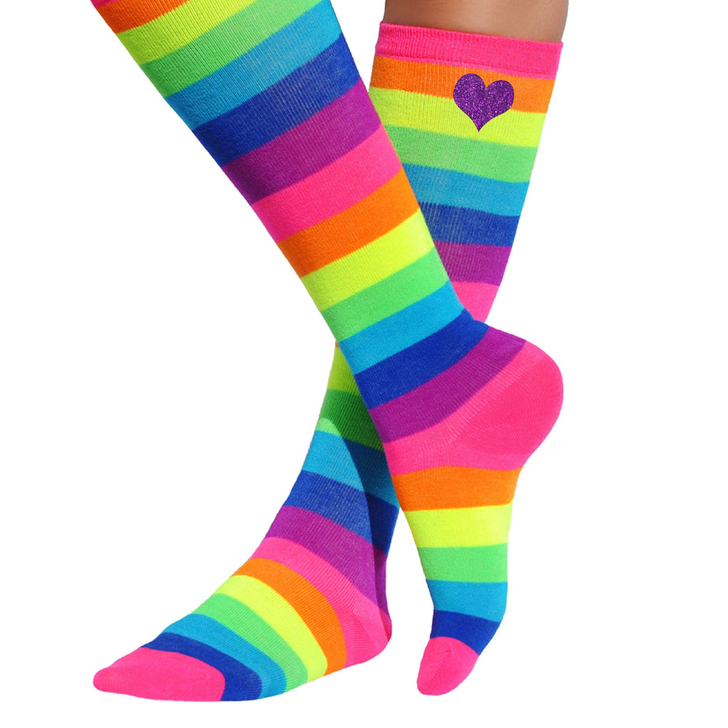 Rainbow Love Heart Socks