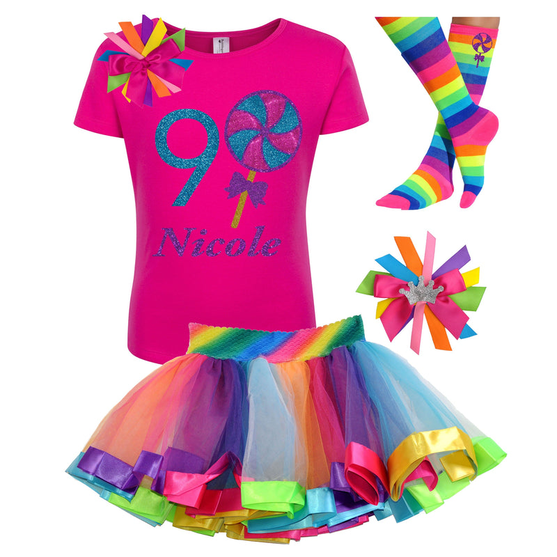 9th Birthday Outfit - Blueberry Swirl Lollipop - Outfit - Bubblegum Divas Store