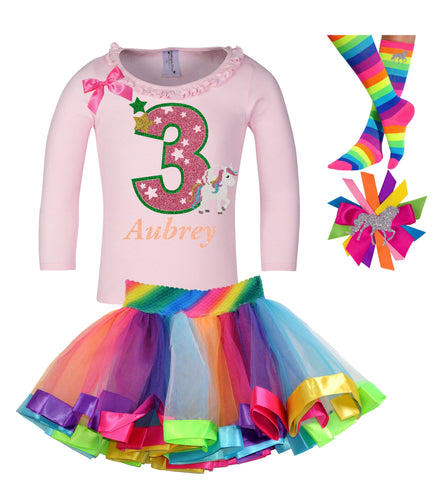 6th Birthday Outfit - Unicorn Hearts