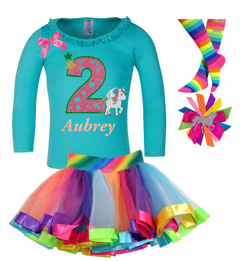 2nd Birthday Outfit - Star Unicorn - Outfit - Bubblegum Divas Store