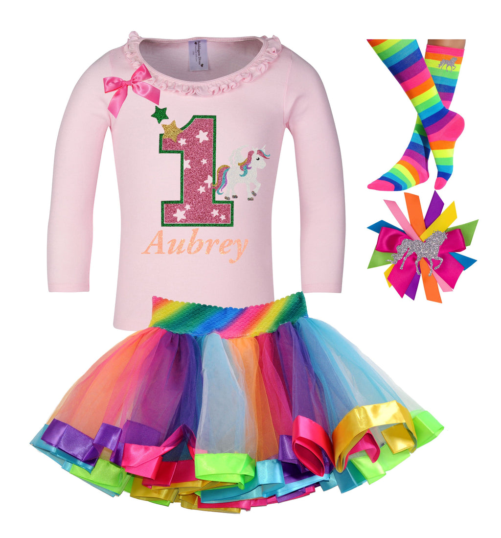 1st Birthday Outfit - Star Unicorn - Outfit - Bubblegum Divas Store