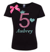 5th Birthday Shirt - Gold Sparkle Diva