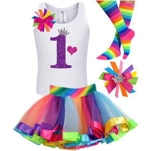 1st Birthday Outfit - Purple Bubble Sparkle - Outfit - Bubblegum Divas Store