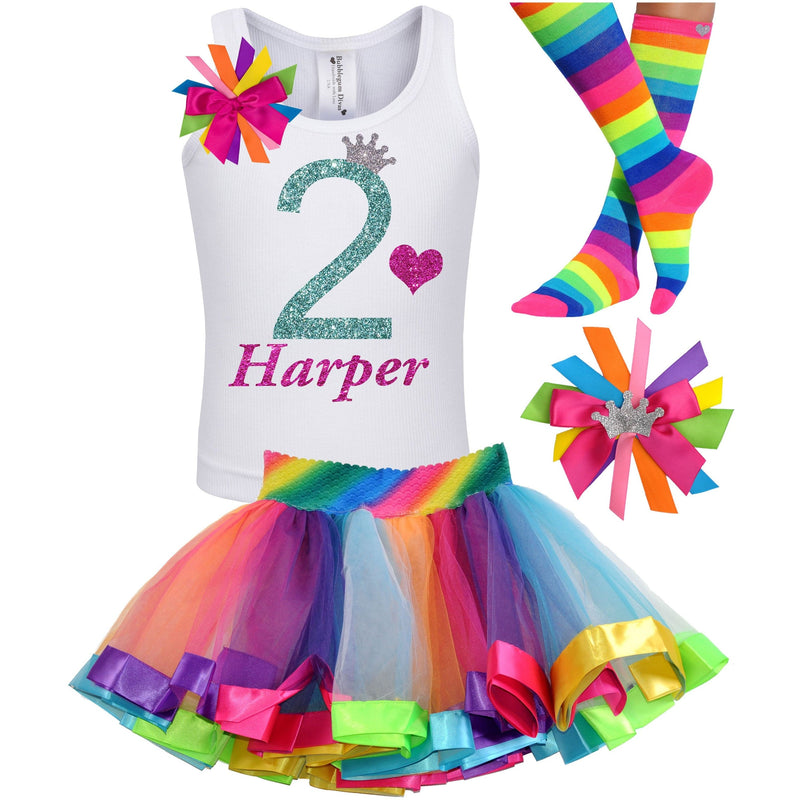2nd Birthday Outfit - Green Apple Twist - Outfit - Bubblegum Divas Store