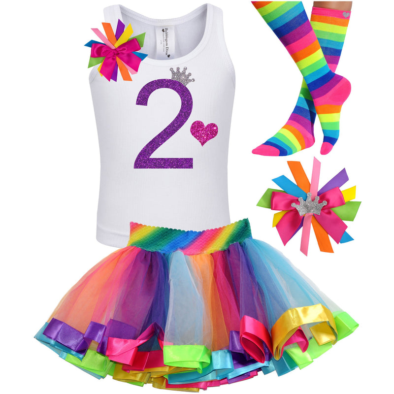 2nd Birthday Outfit - Purple Bubble Sparkle - Outfit - Bubblegum Divas Store