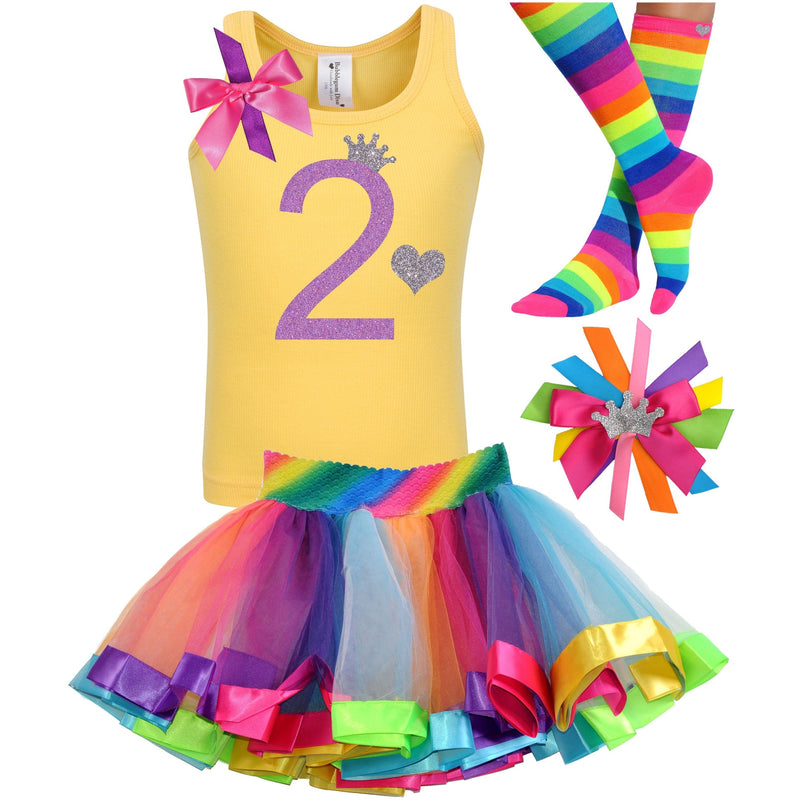 2nd Birthday Outfit - Lavender Rose - Outfit - Bubblegum Divas Store