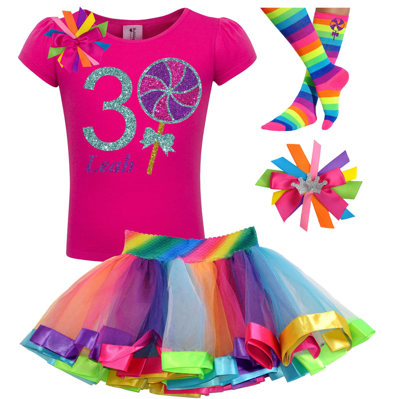 3rd Birthday Outfit - Berry Twist Lollipop - Outfit - Bubblegum Divas Store