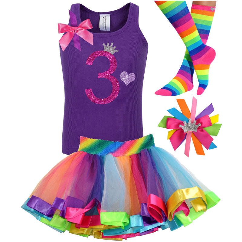 3rd Birthday Outfit - Bubble Berry Sparkle - Outfit - Bubblegum Divas Store