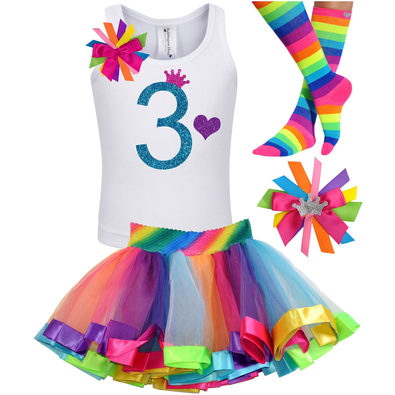 3rd Birthday Outfit - Blue Cherry Twist - Outfit - Bubblegum Divas Store