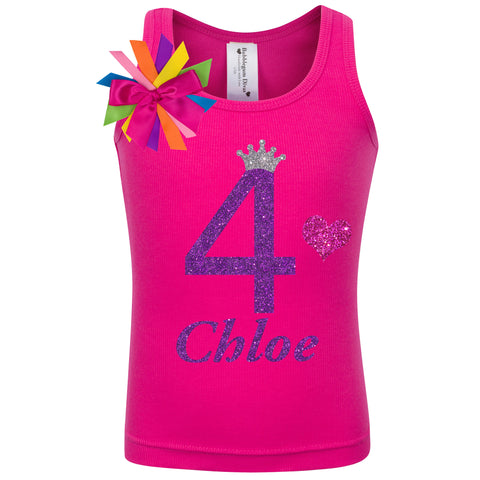 4th Birthday Shirt - Bubble Berry Sparkle