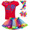 4th Birthday - Blueberry Swirl Lollipop - Outfit - Bubblegum Divas Store