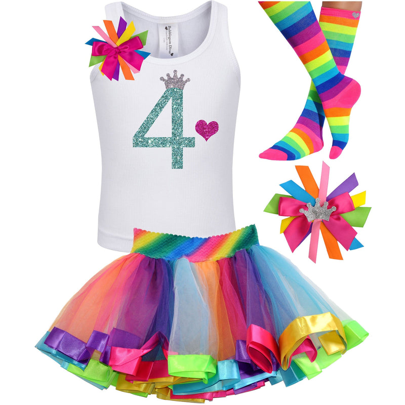 4th  Birthday Outfit - Green Apple Twist - Outfit - Bubblegum Divas Store